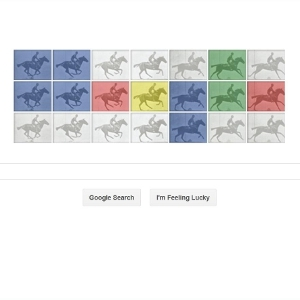 Google Places Work of Famous Photographer Muybridge on Its Home Page