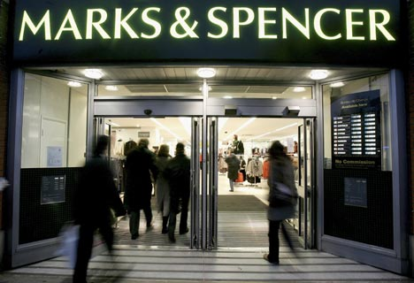 Shares Prices of Marks & Spencer jump in spite of slump