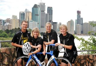 Family Ride Their Bikes to Raise Funds for Cancer