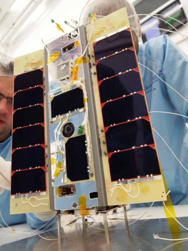 Launch of Satellite Carrying Smartphone into Space