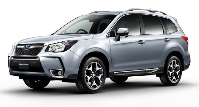 Forester SUV on Road by 2014