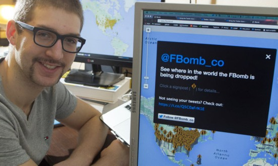 Carleton University student creates a website which tracks use of f-bomb on Twitter