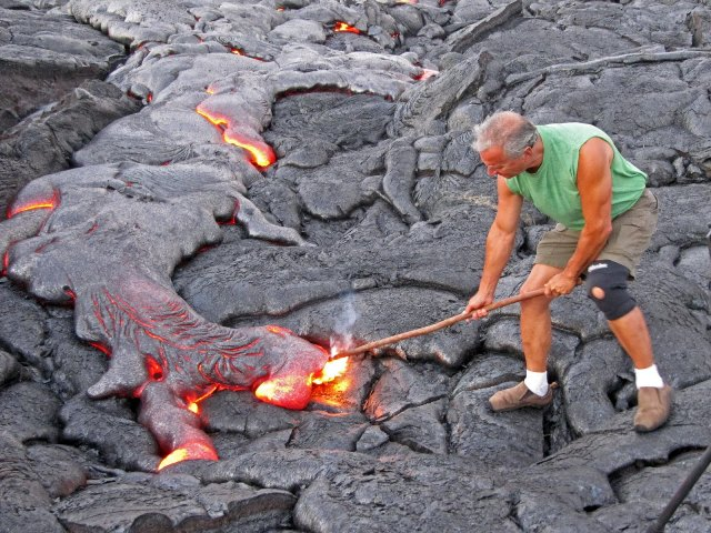 Man-Walking-Lava